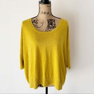 Eileen Fisher Mustard Yellow Sweater Sz L